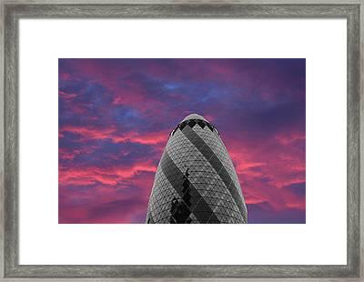 Gherkin London Framed Print by Martin Newman