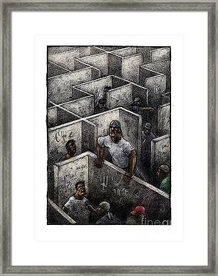 Ghetto Framed Print by Chris Van Es