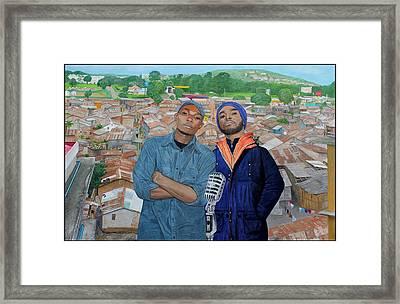Ghetto Voice Framed Print by Daniel Kisekka