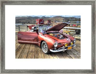 Ghia On Vacation Framed Print