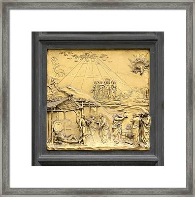 Ghiberti's Panel Of Noah Framed Print by Sheila Terry