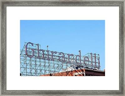 Ghirardelli Square Sign Framed Print