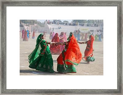Ghoomar Dance In Rajasthan Framed Print by Rakesh Sharma