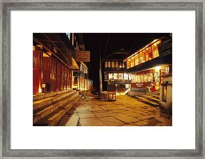 Ghorepani At Night Framed Print by Richard Berry