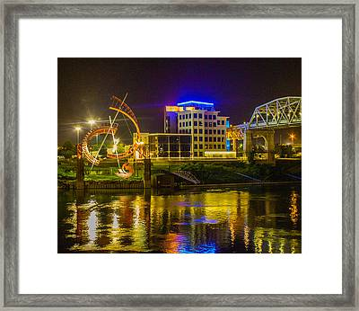 Ghost And Gold Reflections Framed Print
