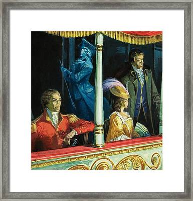Ghost At The Theatre Framed Print by Andrew Howat
