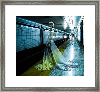 Ghost Bride Framed Print by Diane Diederich
