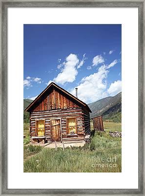Ghost Cabin Framed Print