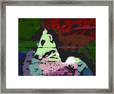 Ghost Cow Framed Print by George Pedro