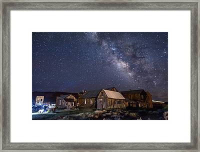 Ghost Dog At Bodie Framed Print by Cat Connor