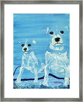 Ghost Dogs Framed Print by Terry Lewey