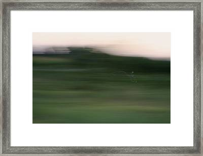 Framed Print featuring the photograph Ghost Flight - Motion Art Print by Jane Eleanor Nicholas