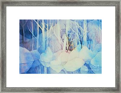 Framed Print featuring the painting Ghost Forest by Teresa Ascone