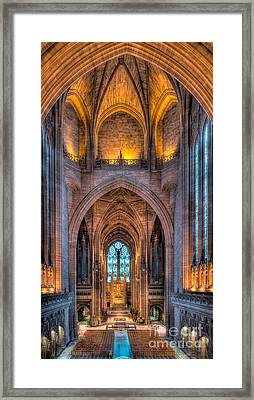 Ghost In The Cathedral Framed Print