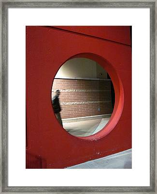 Ghost In The Circle Framed Print by Guy Ricketts