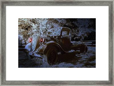 Ghost In The Moonlight Framed Print