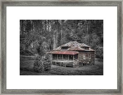 Ghost In The Window Framed Print by Debra and Dave Vanderlaan
