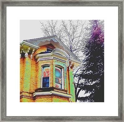 Ghost In The Window Framed Print by Mavis Reid Nugent