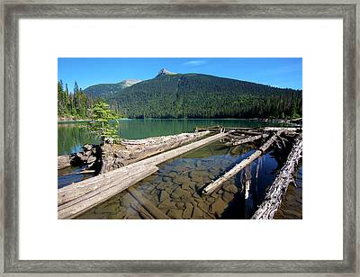 Ghost Lake Falls On The Matthew River Framed Print