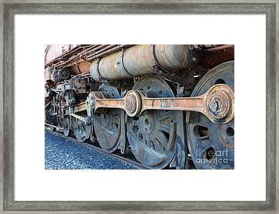Ghost Locomotives Of The Sacramento Southern Railroad 5d25491 Framed Print by Wingsdomain Art and Photography