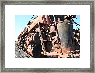 Ghost Locomotives Of The Sacramento Southern Railroad 5d25502 Framed Print by Wingsdomain Art and Photography