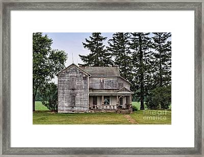 Ghost Manor Framed Print by Pamela Baker