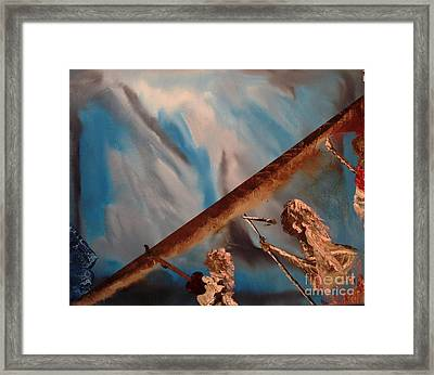 Ghost Metal At The Rock Framed Print
