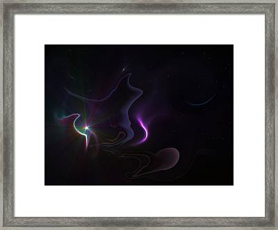 Ghost Nebula Framed Print by Ricky Haug