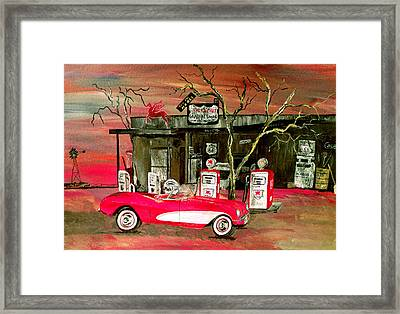 Ghost Of 66 Framed Print by Mark Moore