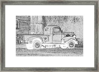 Ghost Of A Truck Framed Print by Jean Noren