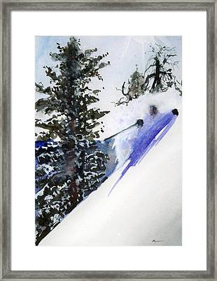 Framed Print featuring the painting Ghost Of Tahoe Past by Ed  Heaton