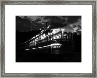 Framed Print featuring the photograph Ghost Of Trolleys Past II by Jim Poulos