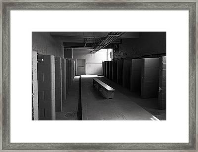 Ghost Prison Shower Area Framed Print