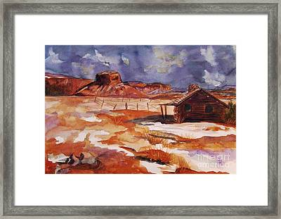 Ghost Ranch Nm Winter  Framed Print