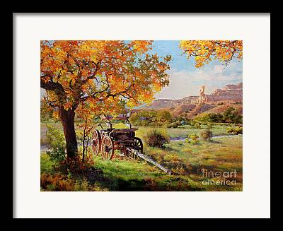 Wooden Wagons Framed Prints