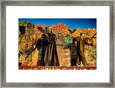 Ghost Ride At The Octoberfest In Munich Framed Print