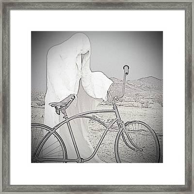 Ghost Rider Sketch Framed Print by Marcia Socolik