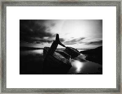 Framed Print featuring the photograph Ghost Ship by Frodi Brinks
