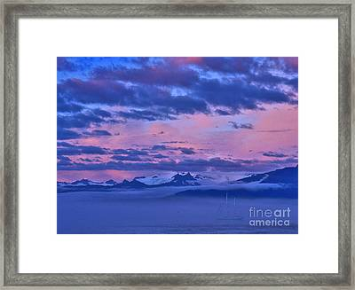 Ghost Ship Of The Sound Framed Print by Cynthia Lagoudakis