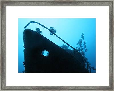 Ghost Ship Framed Print by Paula Marie deBaleau