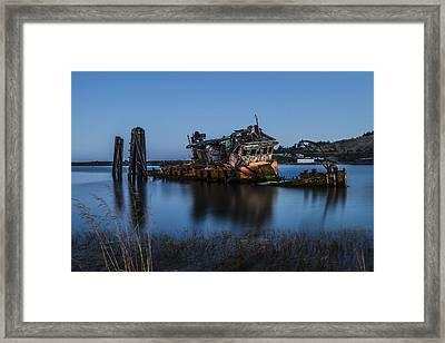Ghost Ship Framed Print by Randy Wood