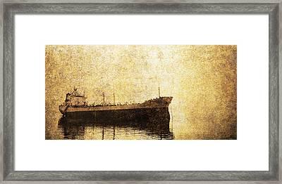 Ghost Ship Framed Print by Skip Nall