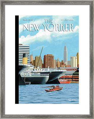 Ghost Ships Framed Print