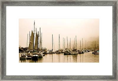 Ghost Ships Framed Print by Corinne Rhode