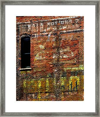 Ghost Sign 13469 3 Framed Print by Jerry Sodorff