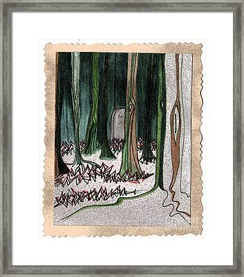 Ghost Stories Forest Graveyard By Jrr Framed Print by First Star Art