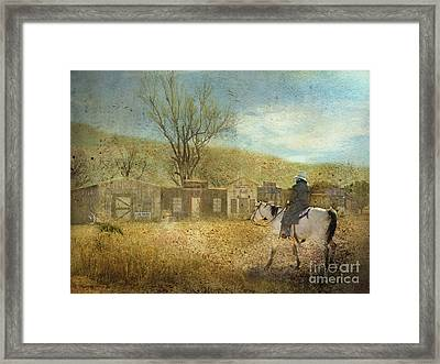 Ghost Town #1 Framed Print by Betty LaRue