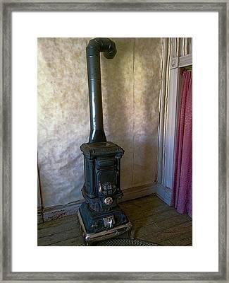 Ghost Town Baker Pot Belly Stove Framed Print
