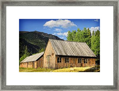 Framed Print featuring the photograph Ghost Town Barn And Stable by Lincoln Rogers