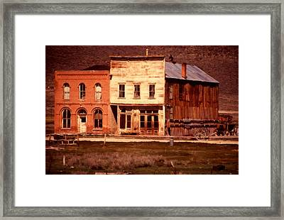 Ghost Town Bodie California Framed Print by Dick Rowan